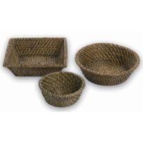 Az boutique - Corbeille à pain en rotin ronde 15 cm