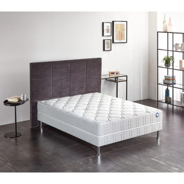 bultex ensemble nano silvery 160x200 blanc pas cher achat vente ensembles de literie. Black Bedroom Furniture Sets. Home Design Ideas