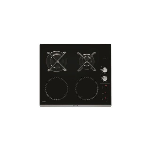 brandt table de cuisson mixte 2 induction 2 gaz achat. Black Bedroom Furniture Sets. Home Design Ideas
