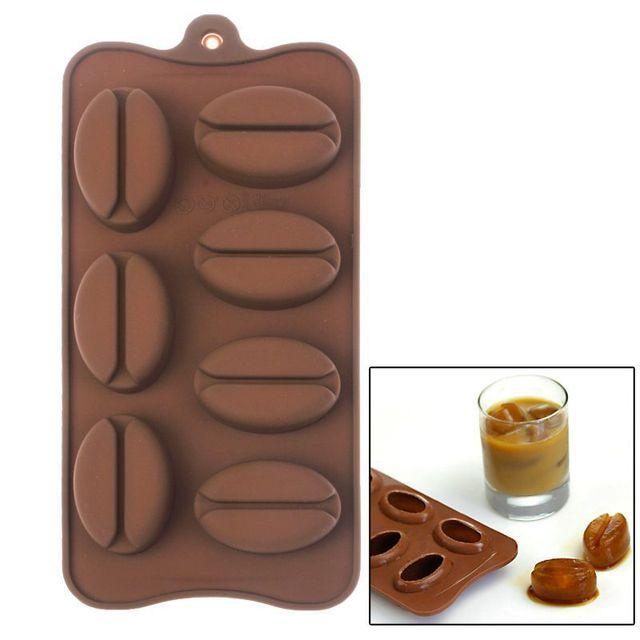 Yonis Plaque de 7 moules en silicone café patisserie glaçons bonbons marron