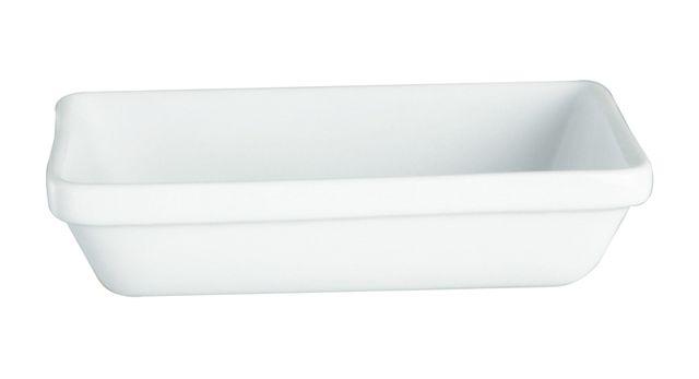 Lebrun Plat a gratin 14 X 9 cm en Gres blanc