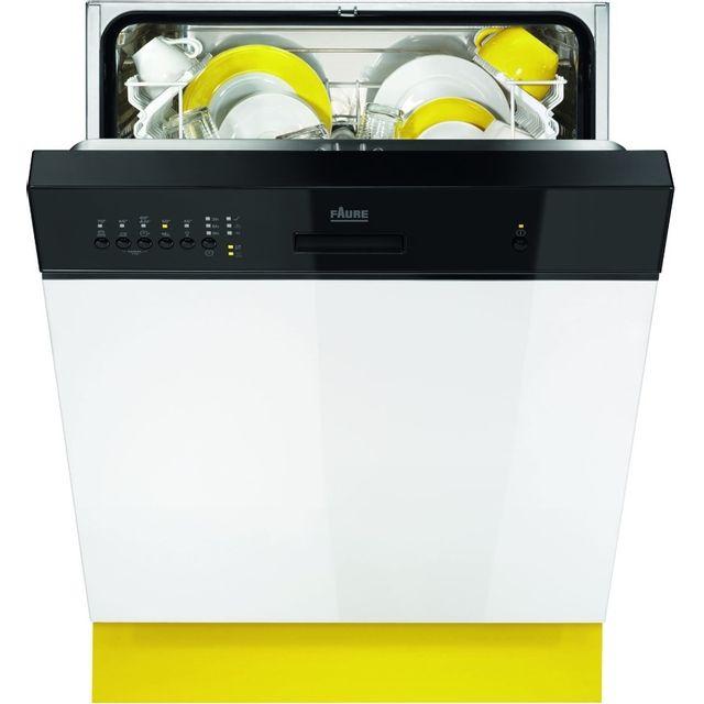 FAURE Lave-Vaisselle Intégrable FDI14001NA FDI 14001 NA, Noir