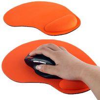 Yonis - Tapis de souris repose poignet de qualité ergonomique ultra fin Orange