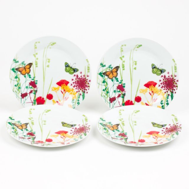 TABLE PASSION COFFRET 4 ASSIETTES DESSERT TUTTI FIORI