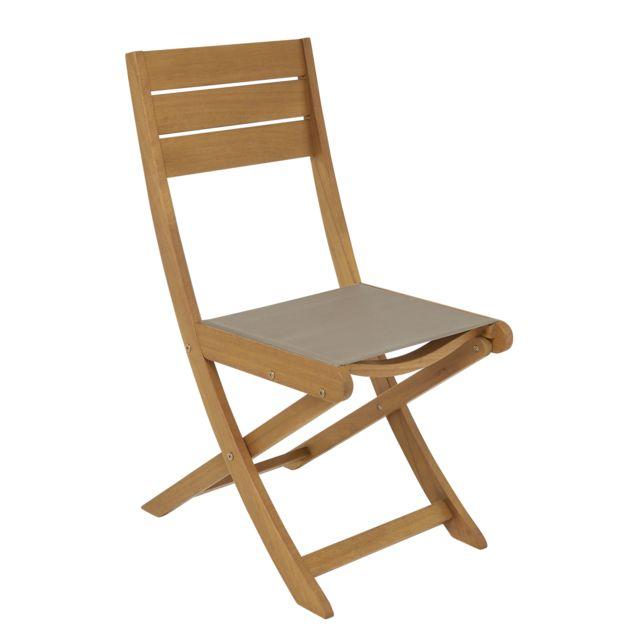 hyba chaise de jardin pliante melo bois marron pas. Black Bedroom Furniture Sets. Home Design Ideas