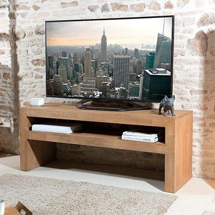 Meuble Tv 1 étagère Hambourg - bois naturel
