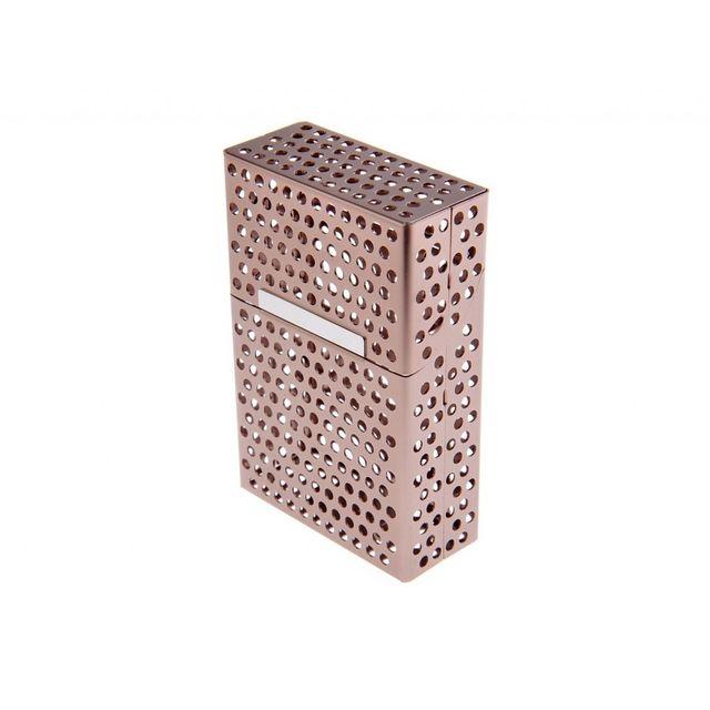 Alpexe Cache paquet de cigarette en Aluminium ouverture automatique Perce Or Gold