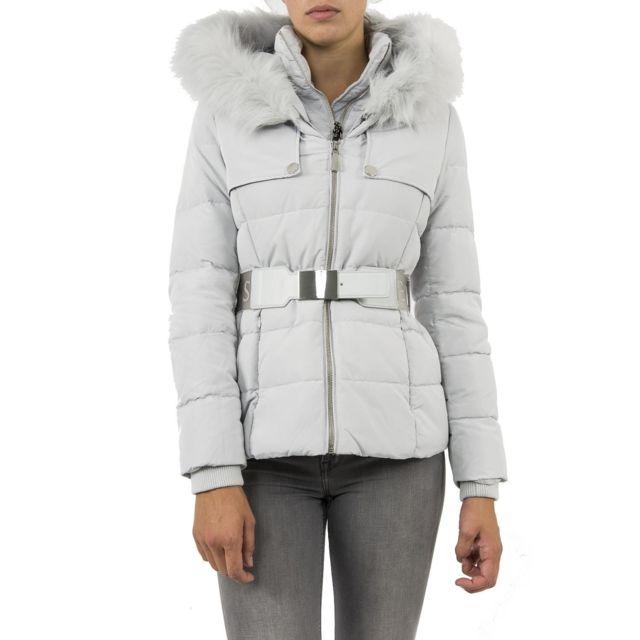 dc58b76ead89 Guess - doudounes jeans w84l32 gris - pas cher Achat   Vente Blouson femme  - RueDuCommerce