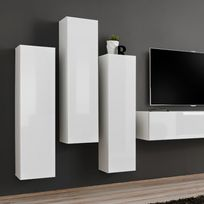 meuble tv vertical achat meuble tv vertical pas cher rue du commerce. Black Bedroom Furniture Sets. Home Design Ideas