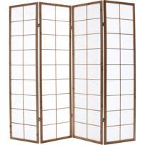 Miliboo - Paravent japonais en bois et papier Ikuyo