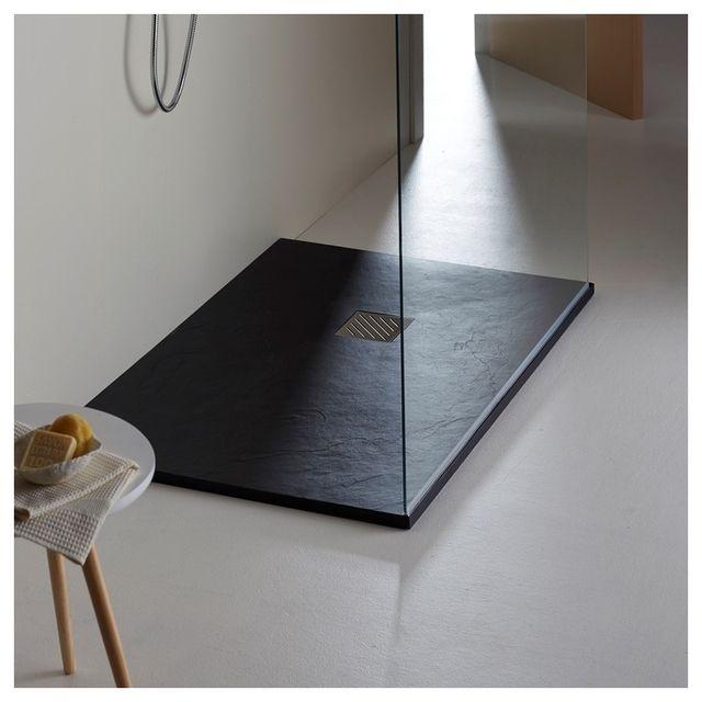 planetebain receveur grande taille 90x160 noir pas cher achat vente receveur de douche. Black Bedroom Furniture Sets. Home Design Ideas