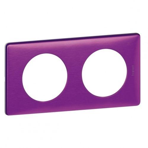 legrand plaque c liane 2 postes violet iris pas cher. Black Bedroom Furniture Sets. Home Design Ideas