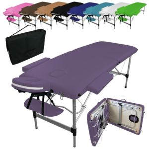 vivezen table de massage pliante 2 zones en aluminium accessoires et housse de transport. Black Bedroom Furniture Sets. Home Design Ideas