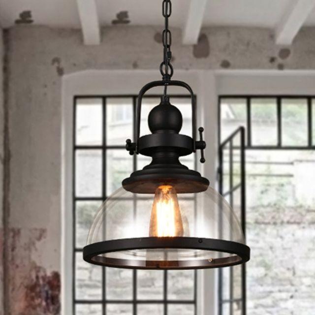 Lampe Suspendue Luminaire Salon Led Suspension Moderne Et En Verre Transparent Avec Ampoule E27 Blanc Chaud