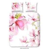 Good Morning - Parure de couette Magnus 100% coton - 1 housse de couette 140x200 cm + 1 taie d'oreiller 60x70 cm rose