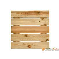 Jardipolys - Dalle pour terrasse en bois rainurée 3,8x50x50 motif droit