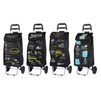 MAISON FUTEE - Chariot de courses pliable 35 litres - Noir