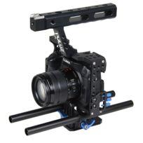 Wewoo - Pour Sony A7 & A7S bleu & A7R et A7R Ii A7S Ii, Panasonic Lumix Dmc-gh4 caméra Cage Stabilisateur