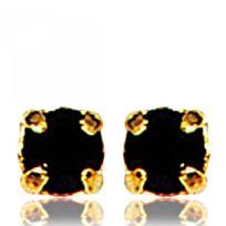 Bijoux en Vogue - Boucles d'oreilles Plaqué Or Noir