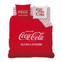 Housse couette coca achat housse couette coca pas cher rue du commerce - Housse de couette coca cola ...