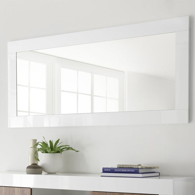 Sofamobili Grand miroir blanc laqué Serena