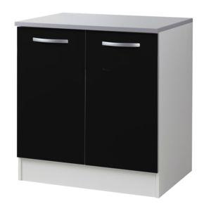 alin a django meuble de cuisine sous vier 80cm fa ade noir mat pas cher achat vente. Black Bedroom Furniture Sets. Home Design Ideas