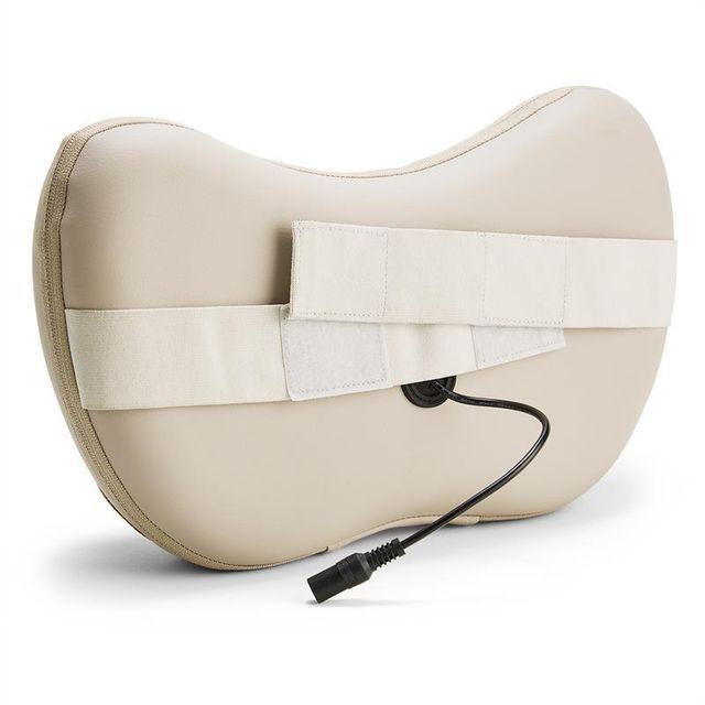 KLARFIT - Neckmaster Coussin massant pour nuque Shiatsu 4 têtes de massage - beige