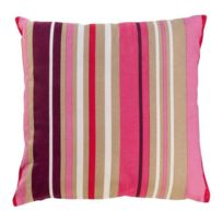 Home Stories - Coussin coton imprime bayadere Passion 45 cm rose