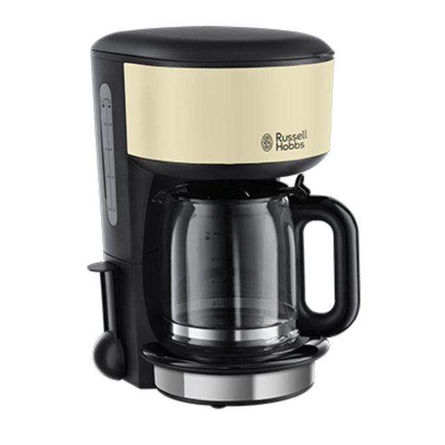RUSSELL HOBBS - cafetière filtre 10 tasses 1000w noir crème - 20135-56