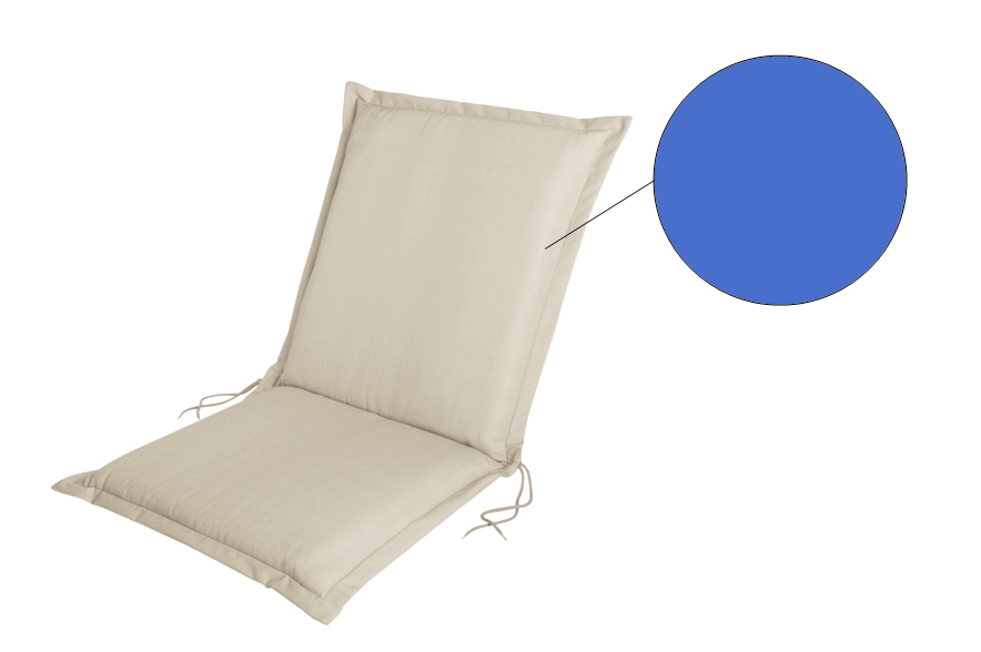 Coussin de fauteuil - Bleu