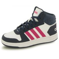 Adidas - Baskets Hoops Mid 2.0 Blanc Enfant