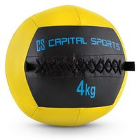 CAPITAL SPORTS - Epitomer Wall Ball 4kg cuir synthétique -jaune