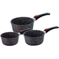 Kaiser - Série de 3 casseroles effet pierre 20-18-16 cm