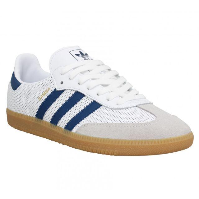 Adidas Samba Og cuir Homme 40 23 Blanc Bleu pas cher