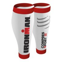 Compressport - Guêtres de compression R2v2 Calf Sleeves Ironman blanc