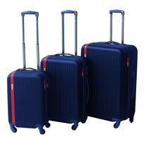 LEE COOPER - Set de 3 valises rigides LINE- ABS - Bleu