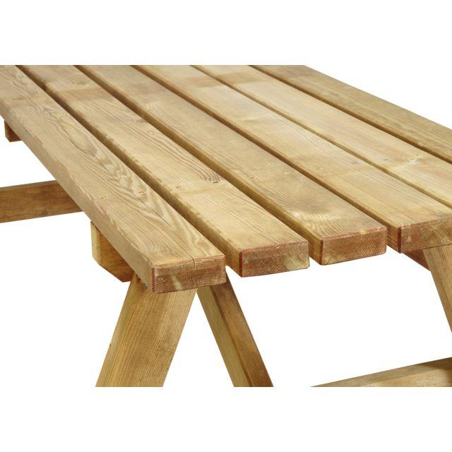 RUE DU COMMERCE - Ensemble Pique-nique - Table avec bancs de ...