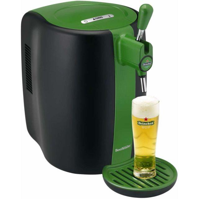 Seb Machine distributeur de bière tireuse de 5L 70W avec 4 Verres Collector vert noir