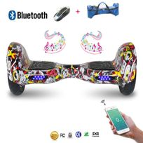 Cool And Fun - Cool&FUN Hoverboard Bluetooth,Scooter électrique Auto-équilibrage,gyropode connecté 10 pouces hip-hop poker design