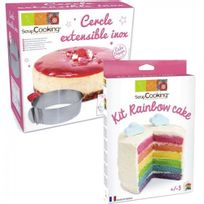 Scrapcooking - Kit Rainbow Cake + Cercle extensible inox
