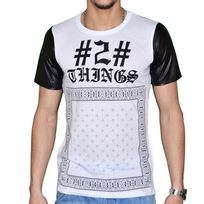 Celebrytees - Celebry Tees - T Shirt Manches Courtes - Homme - Chino - Blanc