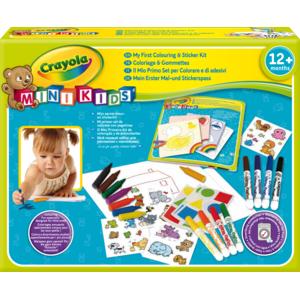 CRAYOLA - Mon 1er coffret de coloriage et de gommettes - 10570