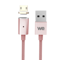 WE - Câble Micro USB magnétique - 1,2m - Or Rose