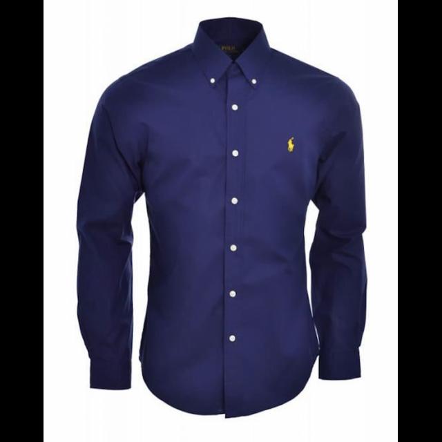 3bf278353667d Ralph Lauren - Chemise Slim Fit Bleu Marine Taille Xl - pas cher Achat    Vente Chemise homme - RueDuCommerce