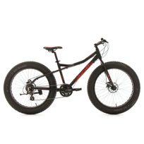 KS CYCLING - VTT Fatbike 26'' semi rigide SNW2458 noir TC 46 cm