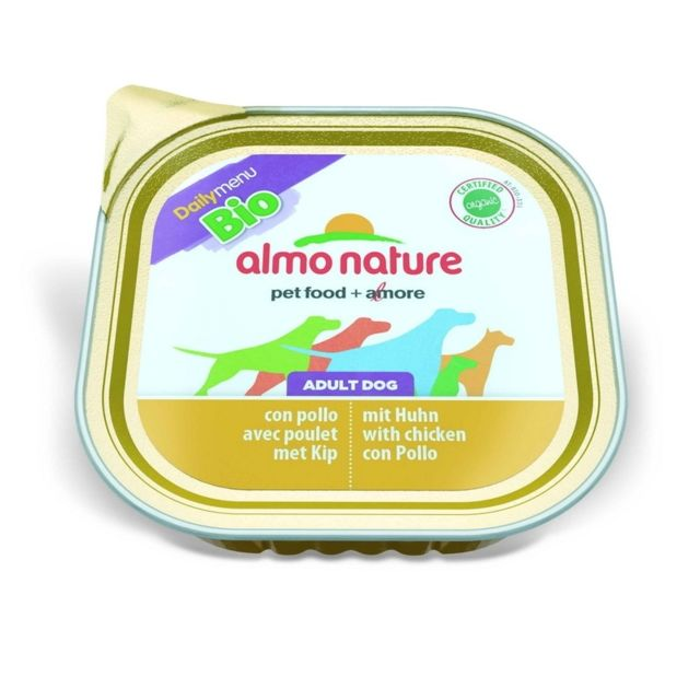 Almo Nature Chien Adult Bio Organic Maintenance Poulet - Barquette