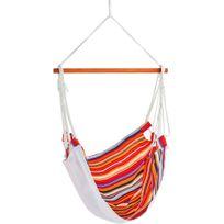 Alinéa - Rayure Chaise à suspendre multicolore en coton