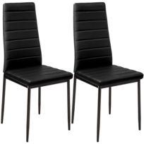 helloshop26 lot de 2 chaises de salle manger salon cuisine design noir 1908009 - Chaise De Salle A Manger Design