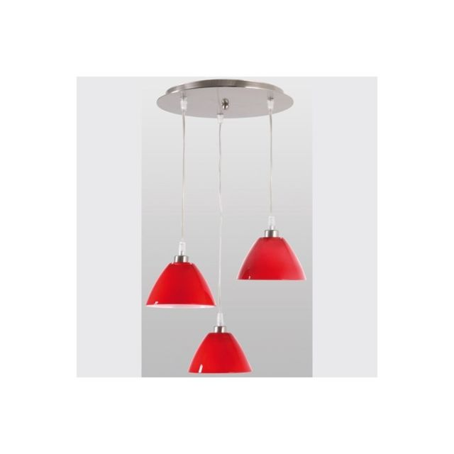 Jp Ryckaert Lustre Design Rouge Sofia 3 Lumieres