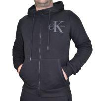 Calvin Klein - Veste à Capuche - Homme - Ck Hoodie - Noir